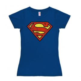 T-Shirt Petite Superman - Logo - Azure Blue