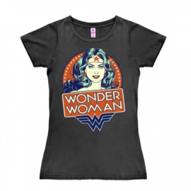 T-Shirt Petite DC - Wonder Woman - Portrait - Dark Grey