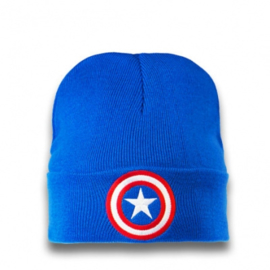 Beanie Adult Marvel - Captain America - Logo - Azure Blue