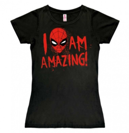 T-Shirt Petite Marvel - Spider-Man - I Am Amazing! - Black