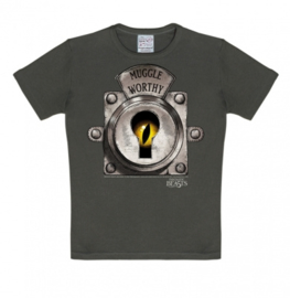 T-Shirt Kids Fantastic Beasts - Muggle Worthy - Grey