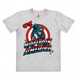 T-Shirt Kids Marvel - Captain America - Grey Melange
