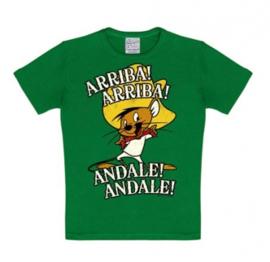 T-Shirt Kids Looney Tunes - Speedy Gonzales - Arriba! Andale! - Green