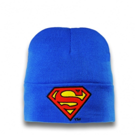 Beanie Adult DC - Superman - Logo - Azure Blue
