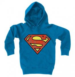 Hoodies Kids Superman - Logo - Azure Blue