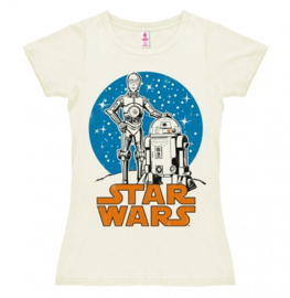 T-Shirt Petite Star Wars - Droids - Almost White