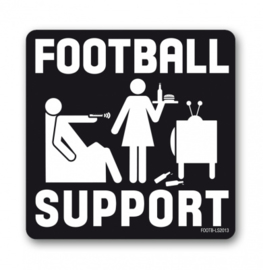 Coaster Football Support - B/W