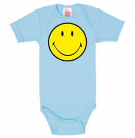 Baby Romper Smiley - Light Blue