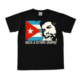 T-Shirt Che Guevara - Cuban Flag - Black