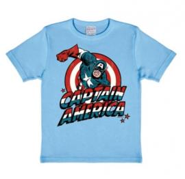 T-Shirt Kids Marvel - Captain America - Light Blue