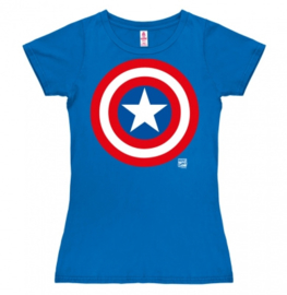 T-Shirt Petite Marvel - Captain America - Shield - Azure Blue