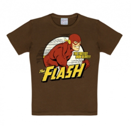T-Shirt Kids DC - Flash The Fastest Man Alive - Mustang Brown