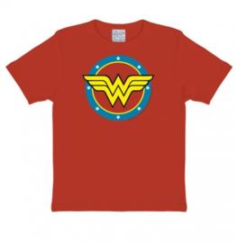 T-Shirt Kids DC - Wonder Woman - Logo - Red