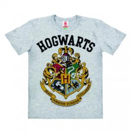 T-Shirt Kids Harry Potter - Hogwarts Logo - Grey Melange