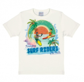 T-Shirt Kids DC - Batman and Robin - Surf Riders - Almost White