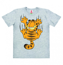 T-Shirt Kids Garfield - Scratches - Grey Melange
