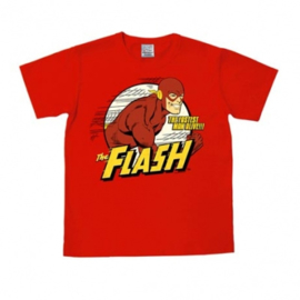 T-Shirt DC - Flash The Fastest Man Alive - Red