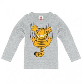 Longsleeve Kids Garfield - Scratches - Grey melange