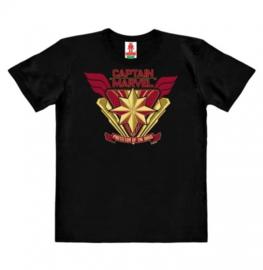 T-Shirt Kids Marvel - Captain Marvel - Protector of the Skies - Black