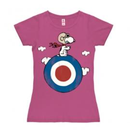T-Shirt Petite Peanuts - Snoopy/Target - Pink