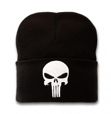 Beanie Adult Marvel - Punisher - Logo - Black