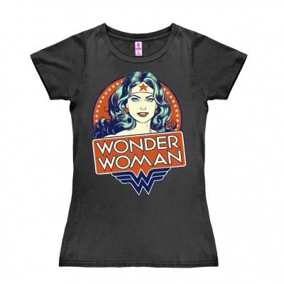 T-Shirt Petite DC - Wonder Woman - Portrait - Dark Grey