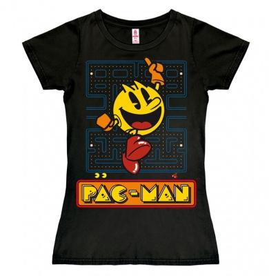 T-Shirt Petite Pac-Man - Jumping - Black
