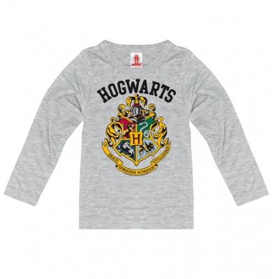 Longsleeve Kids Harry Potter - Hogwarts Logo - Grey melange
