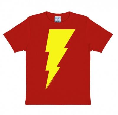 T-Shirt Kids DC - Shazam - Logo - Red