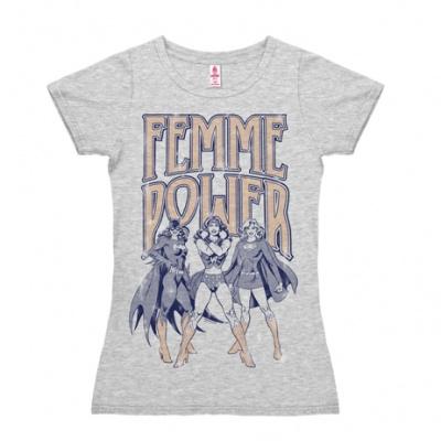 T-Shirt Petite DC - Femme Power - Grey Melange