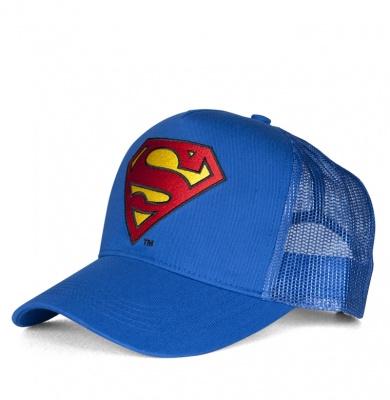 Cap Adult DC - Superman - Logo - Azure Blue