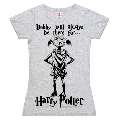 T-Shirt Petite Harry Potter - Dobby Will Always Be There For... - Grey Melange