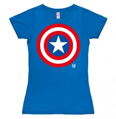 T-Shirt Petite Marvel - Captain America - Shield - Azure Blue