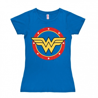 T-Shirt Petite DC - Wonder Woman - Logo Circle - Azure Blue