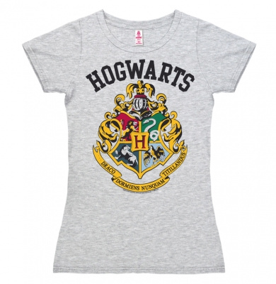T-Shirt Petite Harry Potter - Hogwarts - Logo - Grey Melange