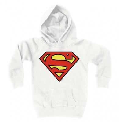 Hoodies Kids Superman - Logo - Almost White