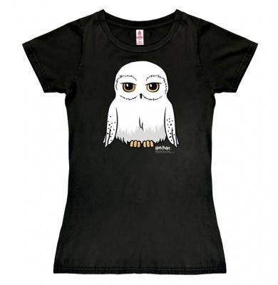 T-Shirt Petite Harry Potter - Hedwig - Black