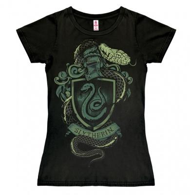 T-Shirt Petite Harry Potter - Slytherin Logo - Snake - Black