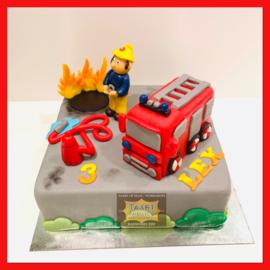 Sam de Brandweerman taart 12 personen
