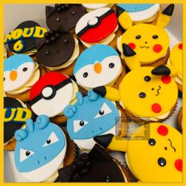 Cupcakes Pokemon 6 stuks