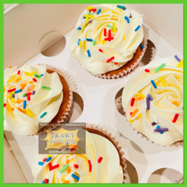 Confetti cupcakes 4 stuks