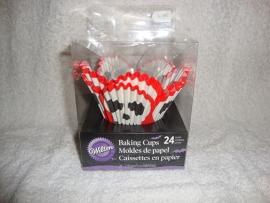 Cupcake vormpjes Doodshoofdjes 24 stuks Wilton