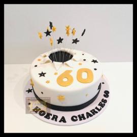 60 jaar taart 10 personen