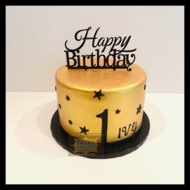 Goud taart 10 personen