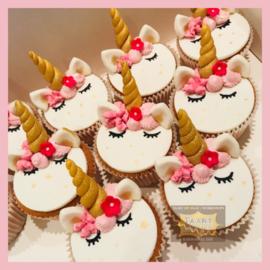 Cupcakes Eenhoorn/ unicorn 6 stuks
