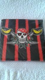 Red Piraten Servetten - 20 stuks