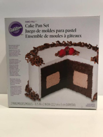 Wilton bakvorm Cake Pan Set 222mmx222mm en 50mmx50mm