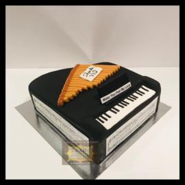 Piano taart 3D voor 16 personen