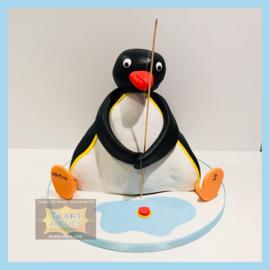 Pingu taart 3D voor 16 personen