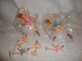 Balletdanseresjes 2 grotere en 4 kleintjes
